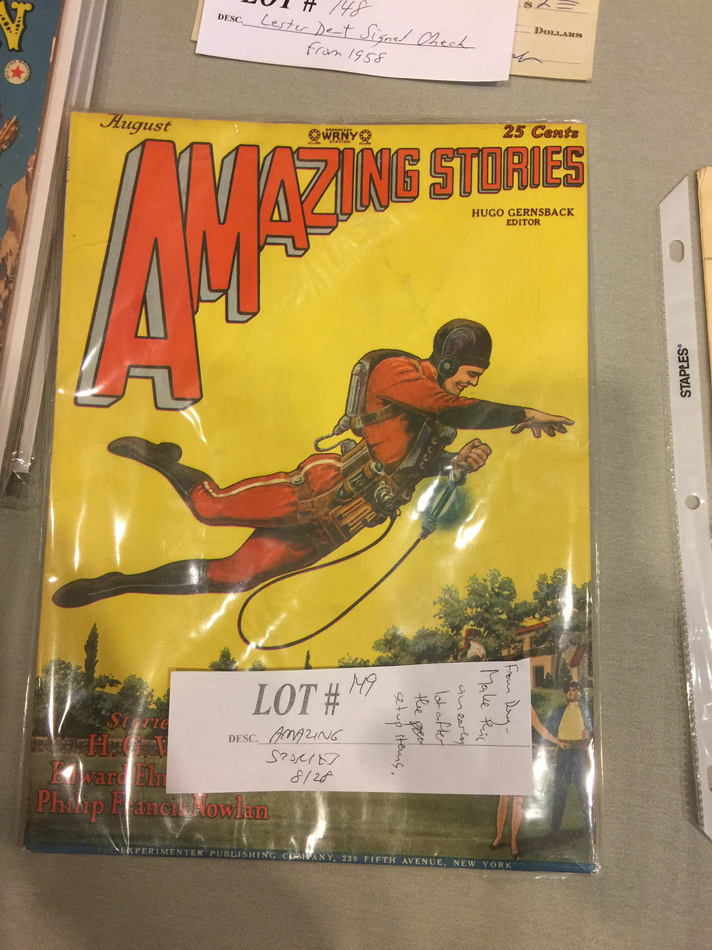 Amazing Stories issue containing the first Buck Rogers story and one instalment of the Skylark of Space serial